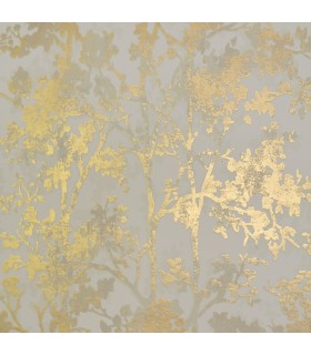 NW3582 - Modern Metals Wallpaper by Antonina Vella-Shimmering Foiliage