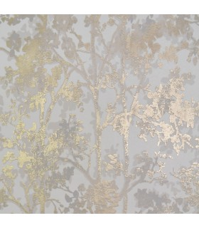 NW3583 - Modern Metals Wallpaper by Antonina Vella-Shimmering Foiliage