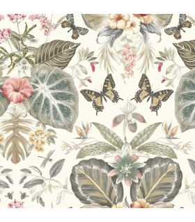 ON1602 - Outdoors In Wallpaper by York - Tropical Butterflies