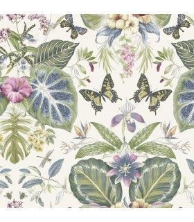 ON1603 - Outdoors In Wallpaper by York - Tropical Butterflies