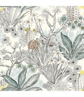ON1611 - Outdoors In Wallpaper by York - Flowering Desert