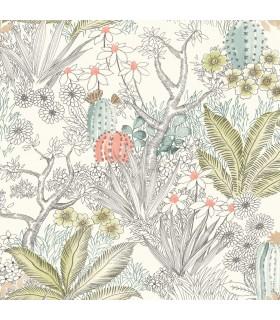 ON1613 - Outdoors In Wallpaper by York - Flowering Desert