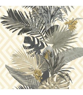 ON1626 - Outdoors In Wallpaper by York - Tropical Oasis Stripe