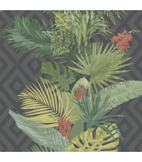 ON1629 - Outdoors In Wallpaper by York - Tropical Oasis Stripe