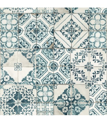 ON1633 - Outdoors In Wallpaper by York - Mediterranean Tile