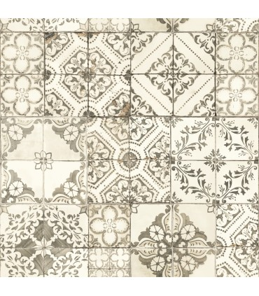 ON1634 - Outdoors In Wallpaper by York - Mediterranean Tile
