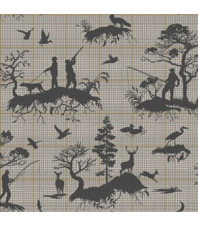 HO3325 - Tailored Wallpaper by York - Outdoorsmen Toile