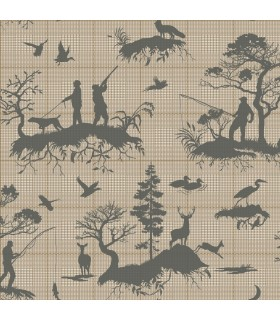 HO3326 - Tailored Wallpaper by York - Outdoorsmen Toile