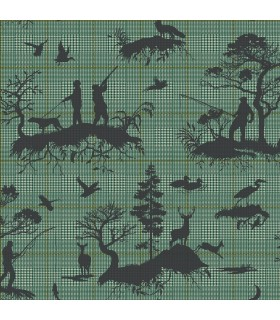 HO3327 - Tailored Wallpaper by York - Outdoorsmen Toile