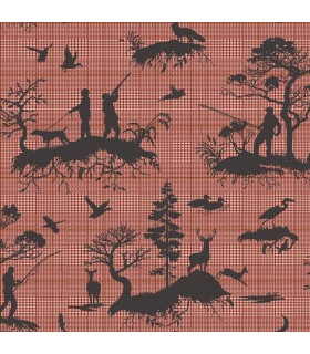 HO3328 - Tailored Wallpaper by York - Outdoorsmen Toile