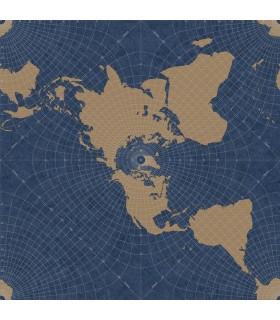HO3368 - Tailored Wallpaper by York - Maritime Map