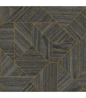 HO3372 - Tailored Wallpaper by York - Wood Geometric