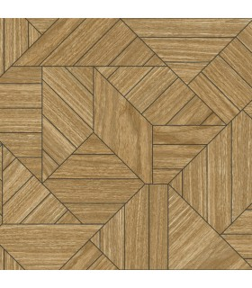 HO3373 - Tailored Wallpaper by York - Wood Geometric