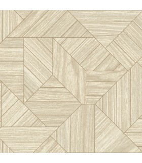 HO3374 - Tailored Wallpaper by York - Wood Geometric