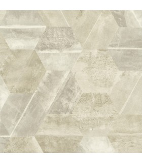 ET4023 - Dimension and Color Wallpaper by 750 Home-Hexagon Stone