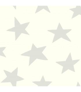 RMK10848WP - Peel and Stick Wallpaper-Star-Grey