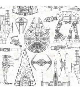 RMK11036WP - Peel and Stick Wallpaper-Star Wars Blueprint