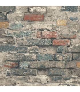 RMK11080WP - Peel and Stick Wallpaper-Brick Alley