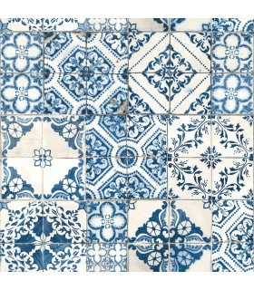 RMK11083WP - Peel and Stick Wallpaper-Mediterranean Tile