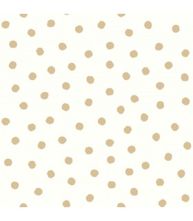 RMK3524WP - Peel and Stick Wallpaper-Small Gold Dot