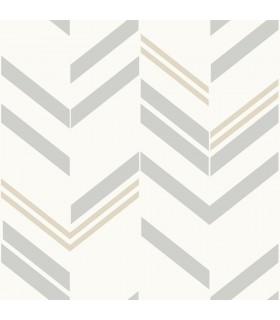 RMK9004WP - Peel and Stick Wallpaper-Grey Chevron Stripe