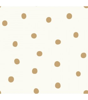 RMK9012WP - Peel and Stick Wallpaper-Large Gold Dots