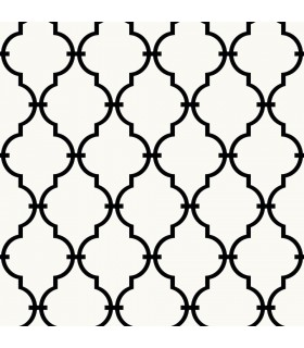 RMK9018WP - Peel and Stick Wallpaper-Modern Black Trellis