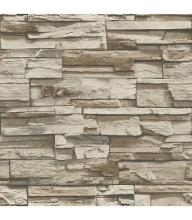 RMK9025WP - Peel and Stick Wallpaper-Stacked Stone