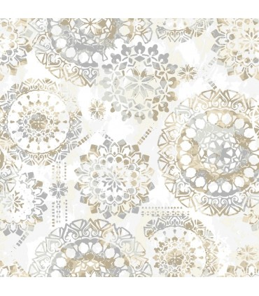 RMK9122WP - Peel and Stick Wallpaper-Tan Bohemian