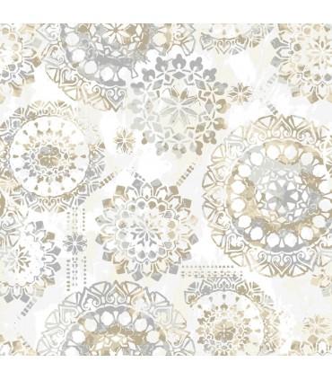 RMK9122WP - Peel and Stick Wallpaper-Tan Bohemian