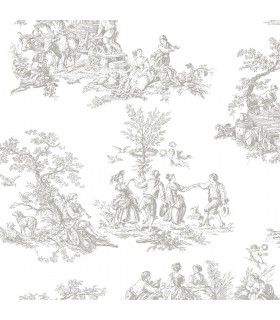 CH28245 - Manor House Wallpaper by Norwall-Toile