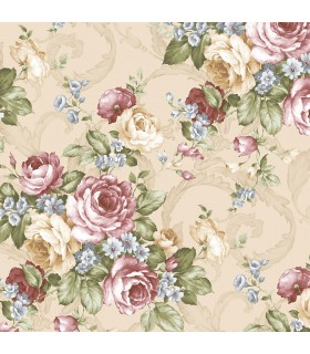 CH22529 - Manor House Wallpaper by Norwall-Roses