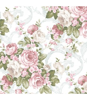 CH22531 - Manor House Wallpaper by Norwall-Roses