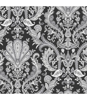MD29430 - Manor House Wallpaper by Norwall-Paisley Damask