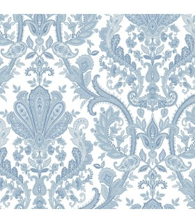 MD29431 - Manor House Wallpaper by Norwall-Paisley Damask