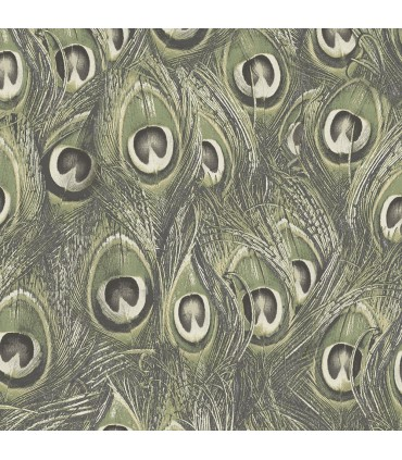 MH36520 - Manor House Wallpaper by Norwall-Peacock Feathers