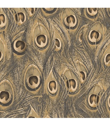 MH36521 - Manor House Wallpaper by Norwall-Peacock Feathers