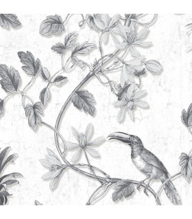 MH36529 - Manor House Wallpaper by Norwall-Tropical Birds