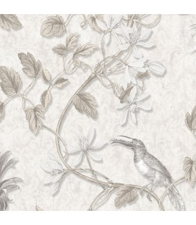 MH36530 - Manor House Wallpaper by Norwall-Tropical Birds