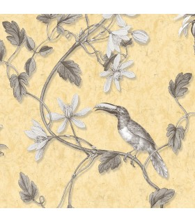 MH36531 - Manor House Wallpaper by Norwall-Tropical Birds