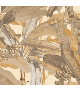 MH36537 - Manor House Wallpaper by Norwall-Tropical Banana Plant