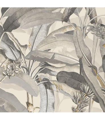 MH36538 - Manor House Wallpaper by Norwall-Tropical Banana Plant