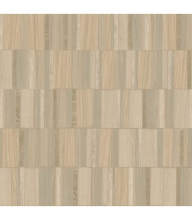 MM1700 - Mixed Materials Wallpaper by York-Gilded Wood Tile