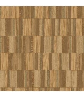 MM1702 - Mixed Materials Wallpaper by York-Gilded Wood Tile