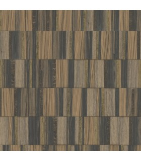 MM1703 - Mixed Materials Wallpaper by York-Gilded Wood Tile