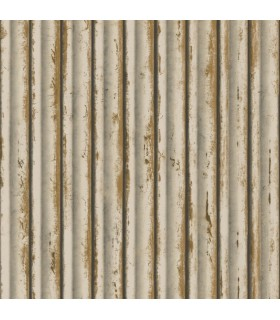 MM1717 - Mixed Materials Wallpaper by York-Weathered Metal