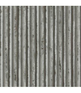 MM1718 - Mixed Materials Wallpaper by York-Weathered Metal