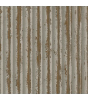 MM1719 - Mixed Materials Wallpaper by York-Weathered Metal