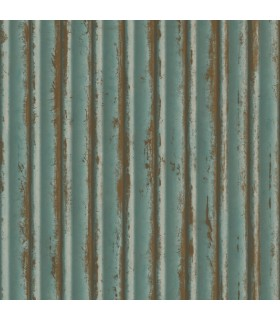 MM1720 - Mixed Materials Wallpaper by York-Weathered Metal