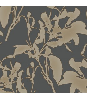 MM1728 - Mixed Materials Wallpaper by York-Botanical Silhouette
